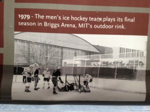 The old ice rink was outdoors.
