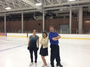 Hanging tough on the ice with Kristen and Marc.