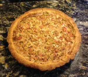 Harriet's rhubarb pie