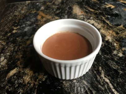 Bittersweet chocolate pudding
