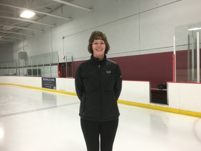 Michele: To stay on one foot through the first move of the Novice MIF.