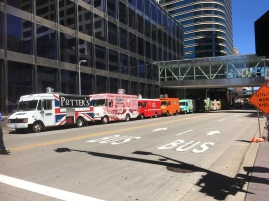 Food trucks on parade