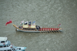 Gloriana, the Queen's Rowbarge.