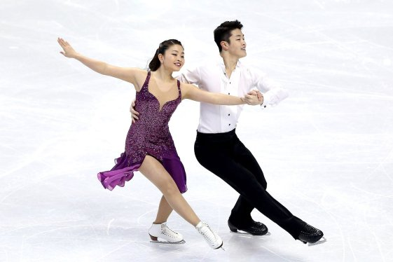 BOSTON, MA - JANUARY 10: Maia Shibutani and Alex Shibutani skate in the dance short program during the Prudential U.S. Figure Skating Championships at TD Garden on January 10, 2014 in Boston, Massachusetts. (Photo by Matthew Stockman/Getty Images)