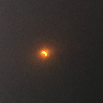 Coming out of the eclipse.