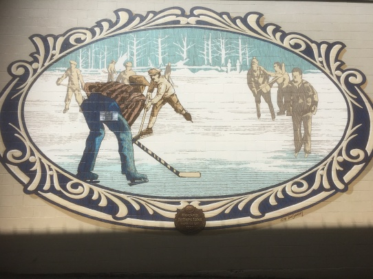 Skating Mural in Chemainus, Vancouver Island
