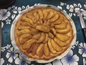 Apple tart with almond flour crust.
